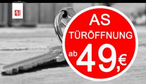AS Schlüsseldienst Tueröffnung nur 49 Euro